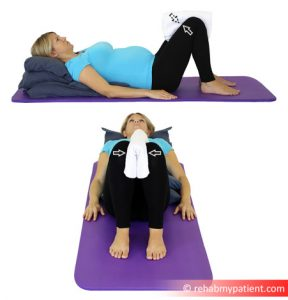 Pillow Squeeze Exercise